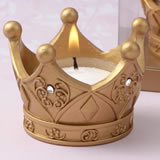 Royal gold Crown tea light candle from fashioncraft
