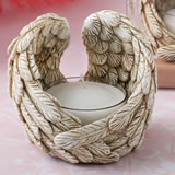 Guardian Angel wings tealight candle holder
