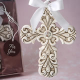 Baroque design Vintage Cross themed ornament
