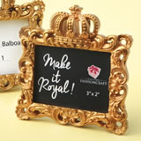 Make it Royal Gold baroque crown frame