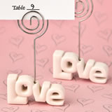 Love theme placecard holder from fashioncraft