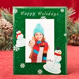 "Happy Holiday Green 4"" x 6"" glass frame"