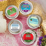 Design Your Own Collection Silver Mint Tin Holiday Favors