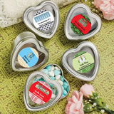 Design Your Own Collection Silver Heart Shaped Holiday Mint Tins