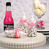 <em>Perfectly Plain Collection</em> Pink Baby Bottle Favors