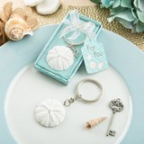 Sand dollar beach themed key chain from fashioncraft