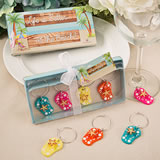 Beach themed Flip Flop Wine Charms from Fashioncraft