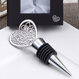 Filigree Heart Design Wine Bottle Stoppers