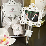Baroque Styled Place Card / Photo Holder with Bottle Stopper