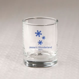Personalized Winter Shot Glass Favors