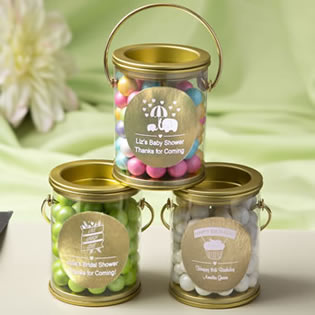 Personalized metallics collection classic mini paint can
