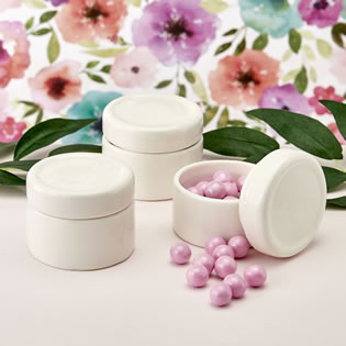 Perfectly plain collection Ceramic trinket jar with Epoxy dome