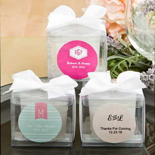 Monogram Collection votive candle favor