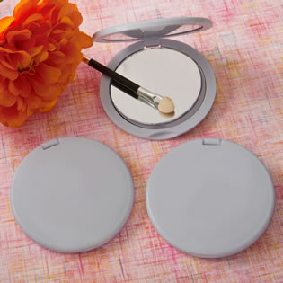 Perfectly Plain Collection  Silver Compact  Mirrors