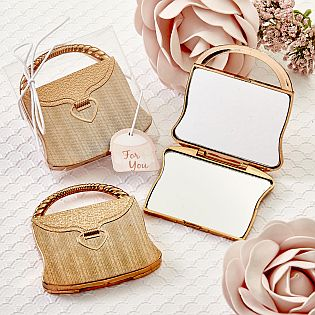 Golden Rose Elegant reflections purse design mirror compacts