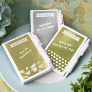 Personalized Metallic Collection Notebook Favors