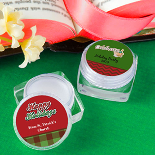 Personalized Holiday Lip Balm Favors