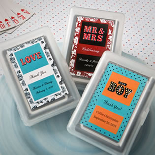 Personalized Playing Card Favor - Marquee Design