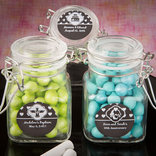 Chalk Board Collection Apothecary Glass Jar