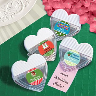 Design Your Own Collection Heart Shaped Memo Clip Favors - Holiday Themed