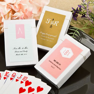 Monogram  Collection playing card favors