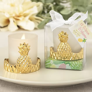 Pineapple design votive candle holder from the Warm Welcome Collection