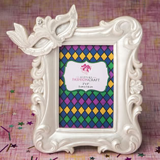 Mardi Gras Masked theme picture / placecard frame from fashioncraft