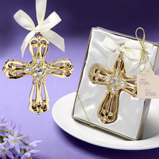 Majestic Gold Cross ornament from fashioncraft