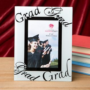 Fabulous 4x6 graduation glass picture frame from fashioncraft