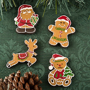 Gingerbread themed holiday magnets