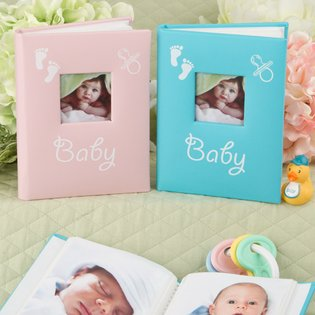 Blue and Pink baby brag books from Gifts by Fashioncraft