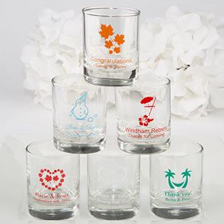 Personalized Shot Glass Favors - Exclusive Themed Designs