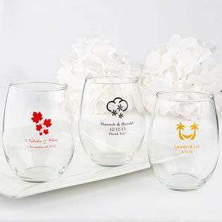 Stemless Wine Glasses 15 Ounce - Exclusive Themed Designs
