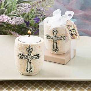 Cross design candle tea light holder from fashioncraft