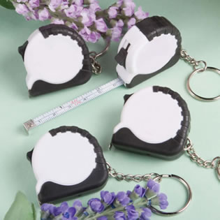 Perfectly Plain Collection  Key Chain/Measuring Tape Favors