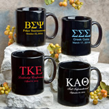 Personalized Coffee Mug Favors: Greek Designs