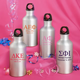 Personalized Water Bottle Favors: Greek Designs