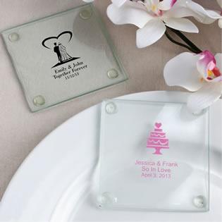 personalized glass coasters custom coasters glass favors