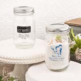 Silk screened Personalized 16 oz.  glass mason jar