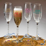 Personalized Champagne Wedding Favors: Greek Designs