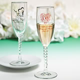 Personalized Champagne Wedding Favors with Exclusive Designs