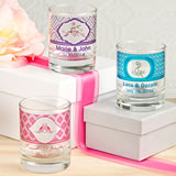 <em>Clearly Custom</em> Shot Glass/Votive Holder with Personalized Sticker