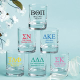Personalized Shot Glass Favors: Greek Designs