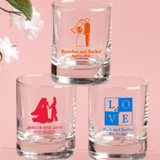 Wedding Theme Personalized Shot Glass Favors