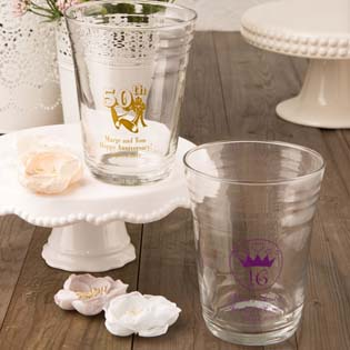 Silk screened Personalized party cup from fashioncraft