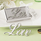 Love Themed metal bottle opener from fashioncraft