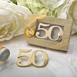 50th Design Golden bottle opener