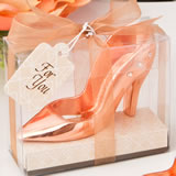 Rose gold shoe design bottle opener from fashioncraft