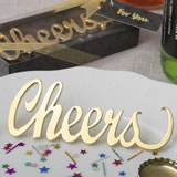 'Cheers' gold metal bottle opener from fashioncraft