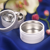 White Mint Tin Favors